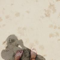 É como areia quente entre os dedos dos pés