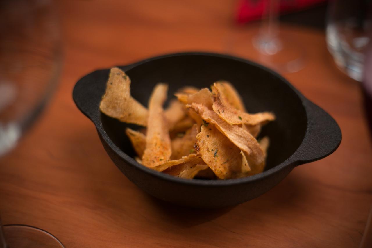 Lasquinhas de mandioca frita